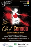 Saskatchewan Express Oh! Canada Summer Tour