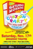 Saturday Morning All You Can Eat Cereal Cartoon Party